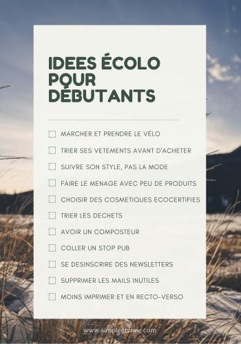 idées devenir écolo